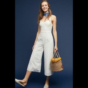 NWT Anthropologie ivory white jumpsuit size 10